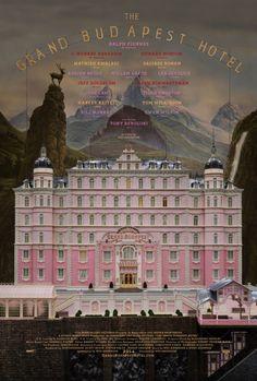 Póster de 'The Grand Budapest Hotel', de Wes Anderson