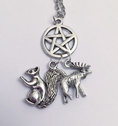 Moose and Squirrel Supernatural Necklace Sam by LoveForAchilles