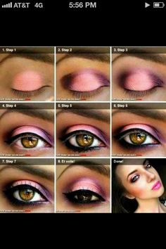 Valentines Day makeup, step by step