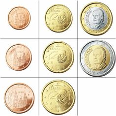 Currency in Spain Spanish Sides, Saving For Retirement, Coins, Spain, Annie, Collection, Miguel De Cervantes, Camino De Santiago, Coin Collecting