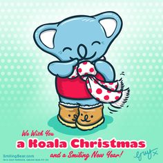 We Wish You A Koala Christmas! Full message to you all here: http://www.smilingbear.com/blog/we-wish-you-a-koala-christmas-and-a-smiling-new-year  #Koala #Christmas #NewYear #ChristmasCard #2015 #Plush #Plushie #smilingbear #smilemore #koala #koalabear #bear #smile #smiling #happy #cute #kawaii #australia #aussie #sydney #beach #manga #art #design #illustration #cartoon #characterdesign #fun #GIF #otaku