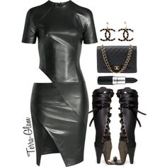A fashion look from October 2015 featuring Alexandre Vauthier dresses, Chanel shoulder bags and Chanel earrings. Browse and shop related looks.