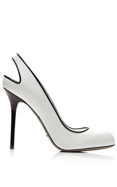 Shop Kaleido Leather Pumps by Sergio Rossi Now Available on Moda Operandi The Cardigans, Shoe Boots, Shoes Heels, High Heels, Sergio Rossi Shoes, Black And White Shoes, Black Boots, Louboutin, Designer Heels