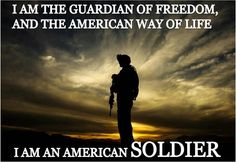 """I am the guardian of freedom . Army Mom, Army Life, Army Girlfriend, Military Quotes, Military Love, I Love America, God Bless America, My Champion, Home Of The Brave"