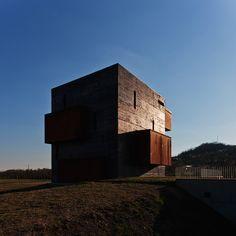 Kemenes Volcanopark Visitor Center | Foldes Architects | www.foldesarchitects.hu | #architecture #museum #volcano #corten #steel #concrete