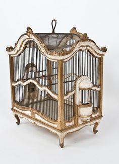 Vintage Italian Florentine Bird Cage