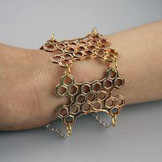 Printable Halcyon bracelet by MyMiniFactory Metal 3d Printer, Desktop Metal, Unique Bracelets, 3d Printing, Bronze, Printables, Prints, Gold, Jewelry