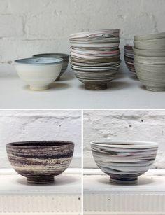 David Pottinger ceramics-nice work. I miss throwing on the wheel!