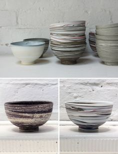 David Pottinger ceramics-nice work. I miss throwing on the wheel!