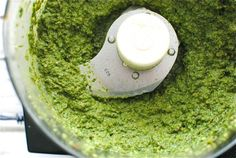 vegan pesto. Made this tonight and added it to pasta. Modifications: I added a whole small avocado instead of the pumpkin seeds. Yum!! Vegan tested, husband approved:)