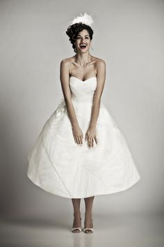 Knockout Wedding Dresses by Matthew Christopher | OneWed  Love the curls!
