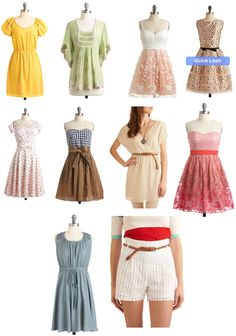 vintage pieces via ModCloth.com
