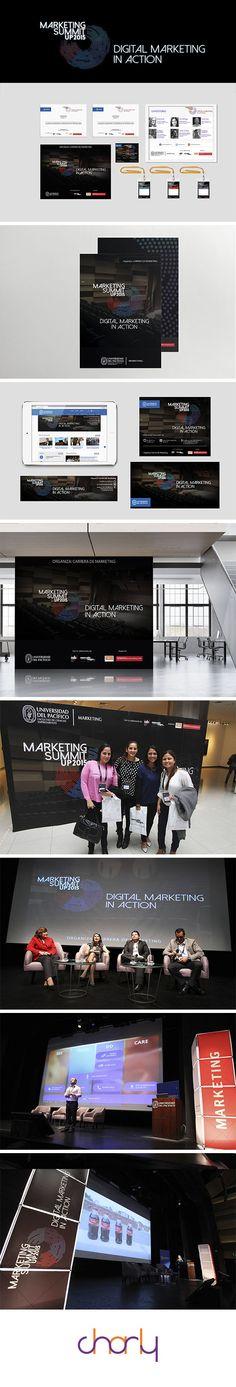 Marketing Summit - Evento organizado por la Universidad del Pacífico. Intervención de marketing digital, piezas ATL y BTL creadas para el evento.