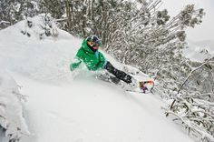 Snow Australia - incredible powder day!  Snowboarding at Mount Buller in Victoria, Australia #snowaus