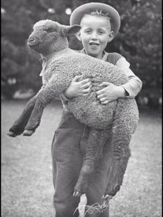 Smiles in Ireland, a young boy and his sheep ; )
