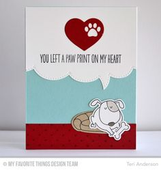 Paw Print card by Teri