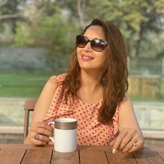 Cat Eye Sunglasses, Round Sunglasses, Sunglasses Women, Madhuri Dixit, Bollywood Actress, Actresses, All About Time, Eyes, Fashion