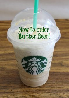 Harry Potter Fans- How to Order Butter Beer at Starbucks! So cool! #HarryPotter #Halloween