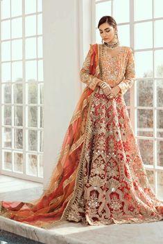 Vermillion Embroidered Pakistani Wedding/ Party Wear Lehenga - New Country Wedding Dresses, Black Wedding Dresses, Wedding Dresses Plus Size, Princess Wedding Dresses, Wedding Wear, Bling Wedding, Tulle Wedding, Dress Wedding, Rustic Wedding