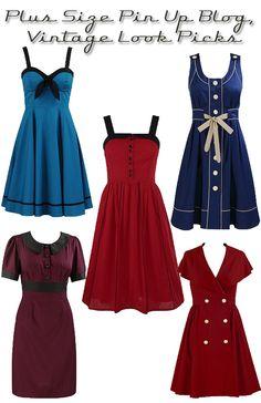 Plus-Size Rockabilly Polka-Dot Halter Dress [36410] - $44.99