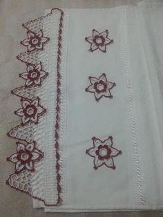 çiçek motifli dantel havlu kenarı modelleri