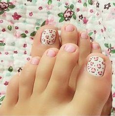 Pretty Toe Nails, Cute Toe Nails, Love Nails, Pink Nails, Pink Cheetah, Cute Toes, Pretty Toes, Gel Toe Nails, Colorful Nails