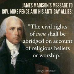 Because they're so worried about what the founding fathers said.