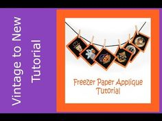 Freezer Paper Applique Tutorial - Freezer Paper on the Front of Fabric Technique - YouTube