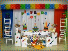 Ka-Fofo Ateliê: PINTANDO O SETE ... E O 12 TAMBÉM !! 10th Birthday, Girl Birthday, Birthday Ideas, Art Party Decorations, Artist Birthday, Pastel Crayons, Shops, Splish Splash, Party Props
