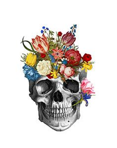 Choose your favorite skull digital art from millions of available designs. All skull digital art ship within 48 hours and include a money-back guarantee. Flower Skull, Flower Art, Skull Drawing With Flowers, Art Floral, Art Sketches, Art Drawings, Art Du Croquis, Natural Form Art, Aquarell Tattoo