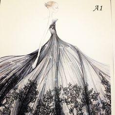 valentino, fashion sketch