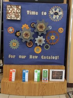 Library Displays: Time to GEAR UP up for our new Catalog!