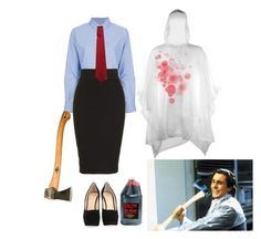 """Halloween Costume: American Psycho"" by radcats ❤ liked on Polyvore featuring Golden Goose, L'Wren Scott and Giuseppe Zanotti"