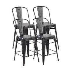 United Chair Industries LLC Counter Height Side Chair Finish: Antique Black Brushing