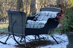 Hoping for a sleigh ride,From one of my favorite blog stops: Aiken House & Gardens   http://warrengrovegarden.blogspot.com/