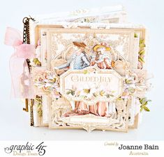 An elegant Gilded Lily invitation album from Joanne #graphic45