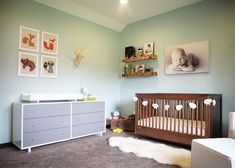 Project Nursery - Rustic Modern Girl Nursery Room View