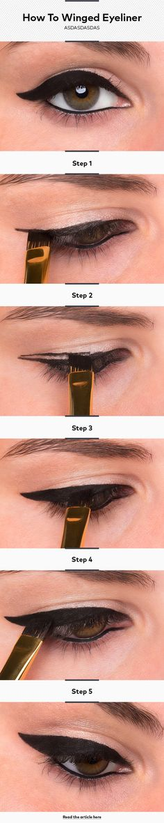 How To Do Winged Eyeliner or Cat-Eye Liner