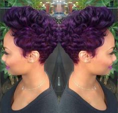 Hey guys, I really love this hair color, I saw this from a post on Facebook and decided that I had to share for all my fellow hair-dyers out there...This almost reminds of that time that Kalenna from #LHHATL had purple hair, if you ever watched it, you know what I mean....I've been obsessed with this color for years...I'll get around to dying mine like that eventually..❤️