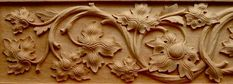 Agrell Carving: Hand carved panel Gothic Cuonrat of Ravensburg 1429.