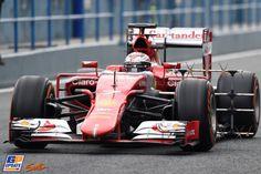 Kimi Räikkönen, Ferrari, Formule 1-test in Jerez de la Frontera,  3 februari 2015, Formule 1