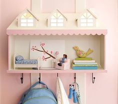 Dollhouse light up shelf. What a perfect nightlight for Mackenna's room.