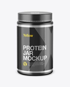 Glossy Protein Jar Mockup in Jar Mockups on Yellow Images Object Mockups - Glossy Protein Jar Mockup. Present your design on this mockup. Includes special layers and smart ob - Nutrition Education, Athlete Nutrition, Nutrition Month, Holistic Nutrition, Nutrition Plans, Sports Nutrition, Kids Nutrition, Nutrition Tips, Fitness Nutrition