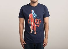 """""""Red and White and Blue"""" - Threadless.com - $25.00 #CaptainAmerica #threadless #tshirts"""