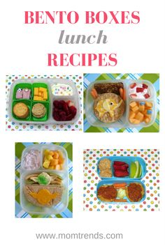 Bento Box Lunch Ideas--recipes to liven up lunch