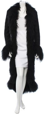 Chanel Fur-Trimmed Long Coat