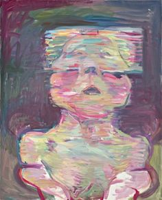 """""""Transparent Self-Portrait"""" (1987), by Maria Lassnig. The Austrian painter is having her first New York museum show, at the age of ninety-four."""