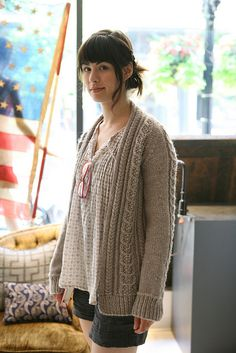 My next sweater project. It uses size 10.5 needles which means it will knit up SUPER fast... in theory.