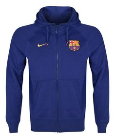 Barcelona Authentic AW77 FZ Hoody Blue FC Barcelona Official Merchandise Available at www.itsmatchday.com