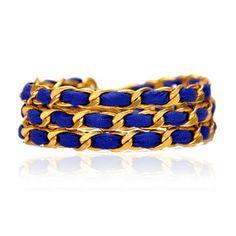 Triple Wrap Bracelet Blueberry now featured on Fab.